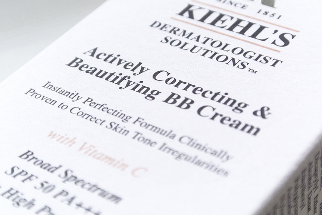 Kiehls BB Cream Actively Correcting and Beautifying with SPF 50